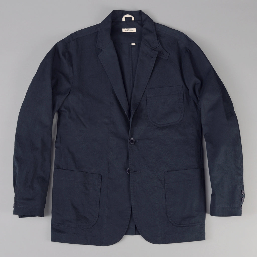 The Hill-Side - Tailored Jacket, Fine Chino Twill, Navy - JK1-247