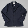 The Hill-Side - Tailored Jacket, Waterproof MizuTech Cotton, Navy - JK1A-390