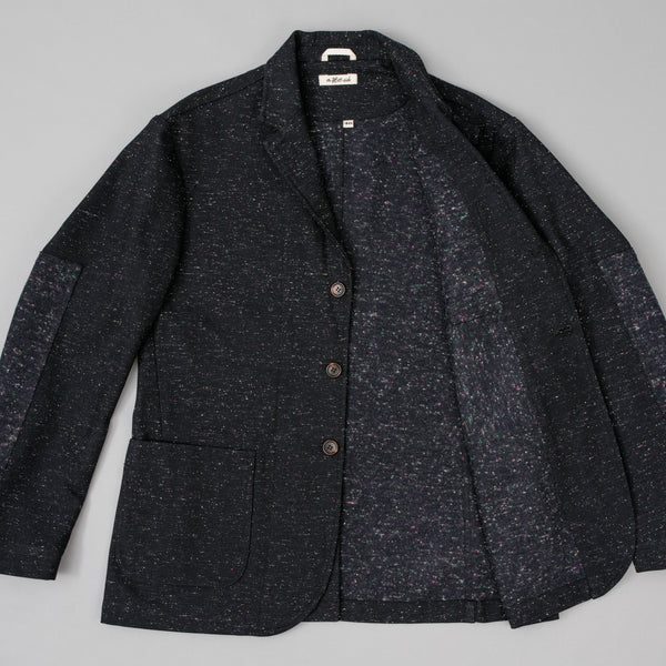 "The Hill-Side - Tailored Jacket, Wool Blend ""Galaxy"" Tweed, Navy - JK1A-385"