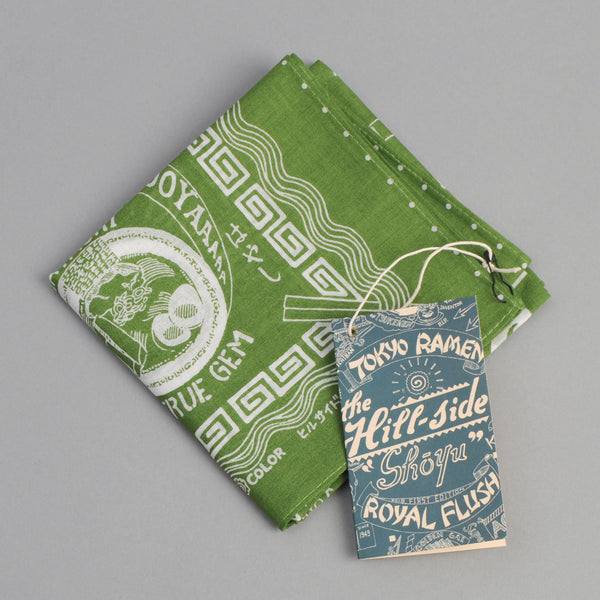 "The Hill-Side ""Tokyo Ramen Joints"" Souvenir Bandana, Green"
