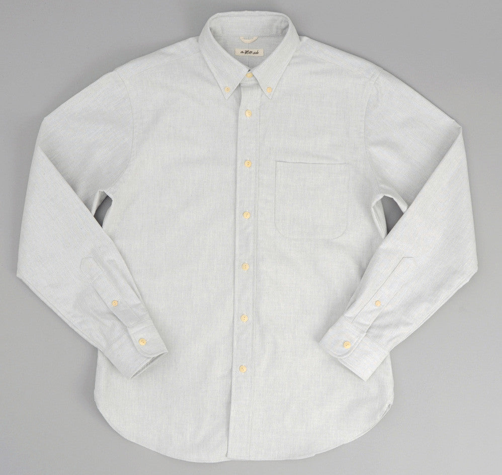 The Hill-Side - Variegated Warp Oxford Button-Down Shirt, Light Grey - SH1-250