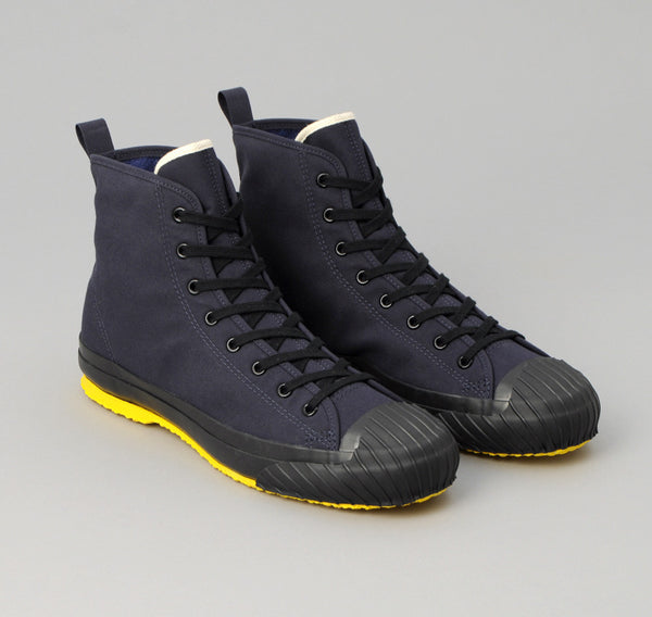 The Hill-Side - Ventile All-Weather High Top Sneakers, Navy - SN6-315