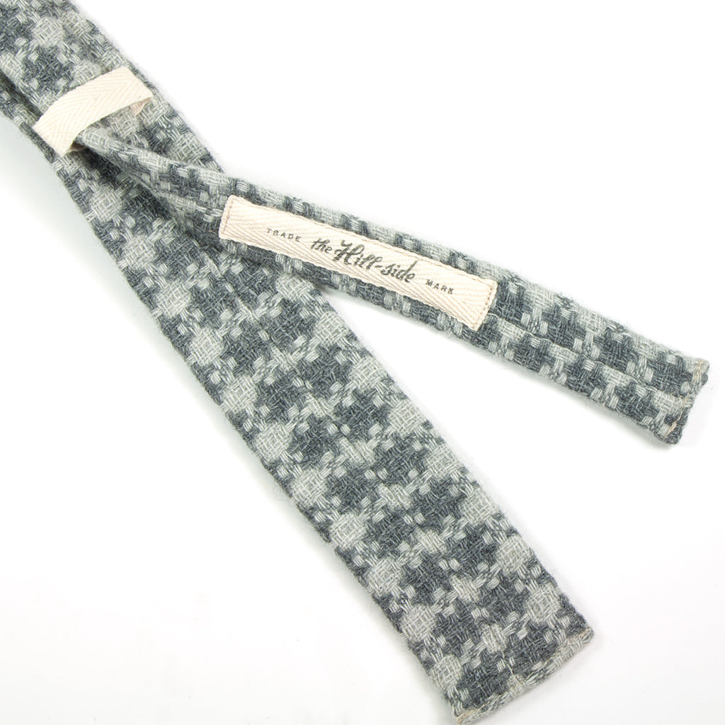 Limited Edition Vintage Tweed Necktie, Grey Crosses