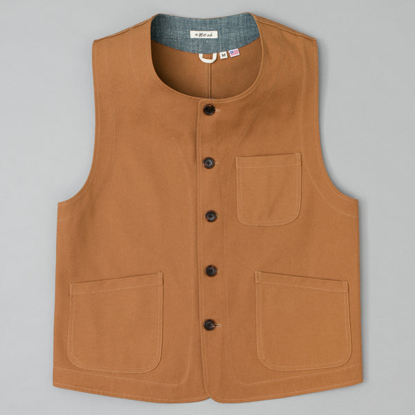 The Hill-Side - Weekend Vest, American Brown Duck Canvas - VE1-313