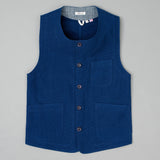 The Hill-Side Weekend Vest, Lightweight Indigo Sashiko