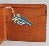 The Hill-Side Wool Blend Blanket Stripe Wallet, Grey / Navy / Rust