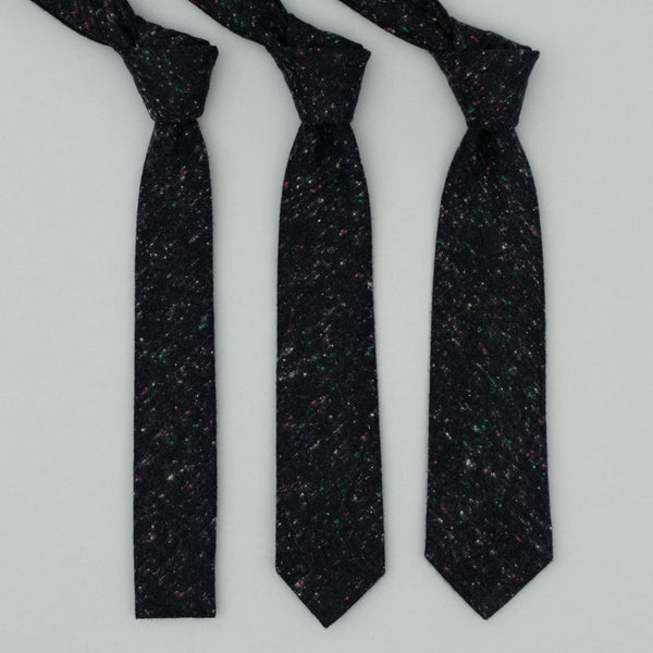 "The Hill-Side - Wool Blend ""Galaxy"" Tweed Necktie, Navy - PT1-385"