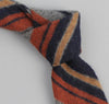The Hill-Side - Wool/Cotton Blanket Stripe Necktie, Grey/Navy/Rust - ST1-203