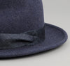 The Hill-Side - Wool Felt Hat, Navy w/ Indigo Lightweight Weft-Slub Denim Band - HA1-318