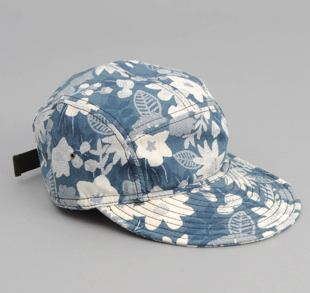 The Hill-Side Xerox Floral Print 5-Panel Cap, Navy