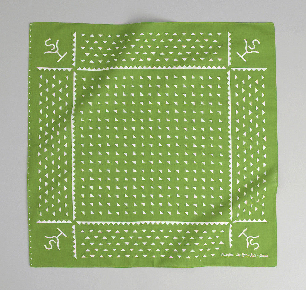 The Hill-Side Rancher Logo Souvenir Bandana, Green