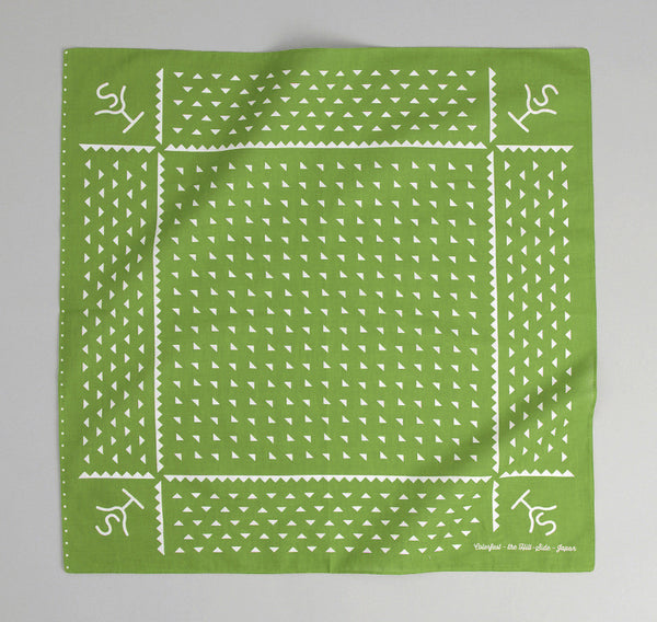 The Hill-Side -  Rancher Logo Souvenir Bandana, Green - SB4-04