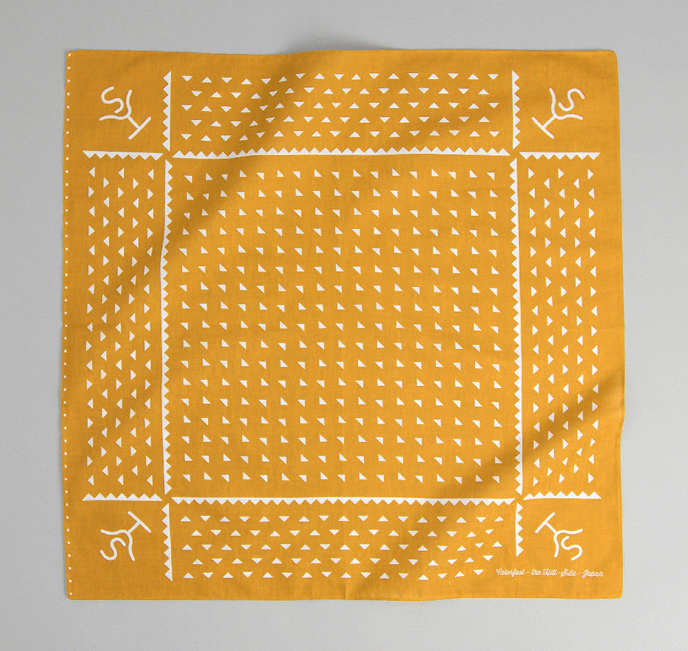 The Hill-Side -  Rancher Logo Souvenir Bandana, Mustard - SB4-03