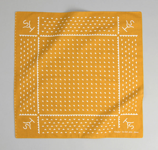 The Hill-Side Rancher Logo Souvenir Bandana, Mustard
