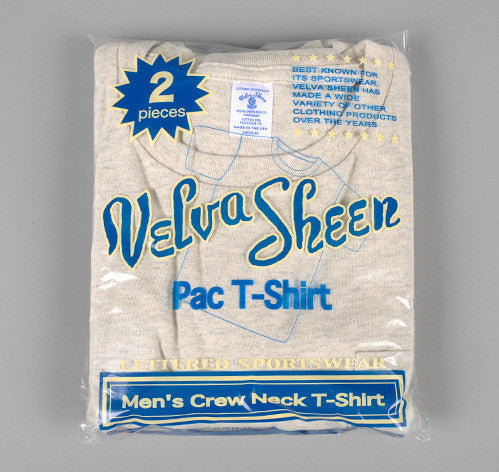 Velva Sheen - Crew Neck Pocket T-Shirt 2-Pack, Oatmeal Heather -