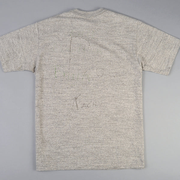 "Warehouse ""Airport Track Club"" T-Shirt, Heather Grey"