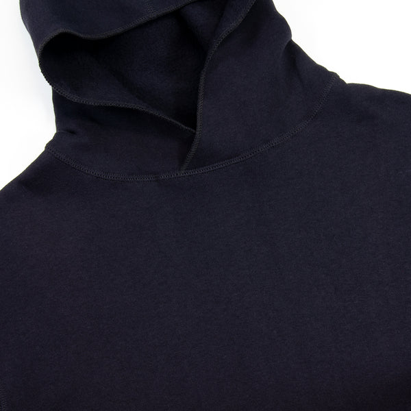 Warehouse - Separate Pocket Hooded Sweatshirt, Navy