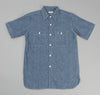Warehouse - Lot 3080 Short Sleeve Chambray Work Shirt, Indigo -