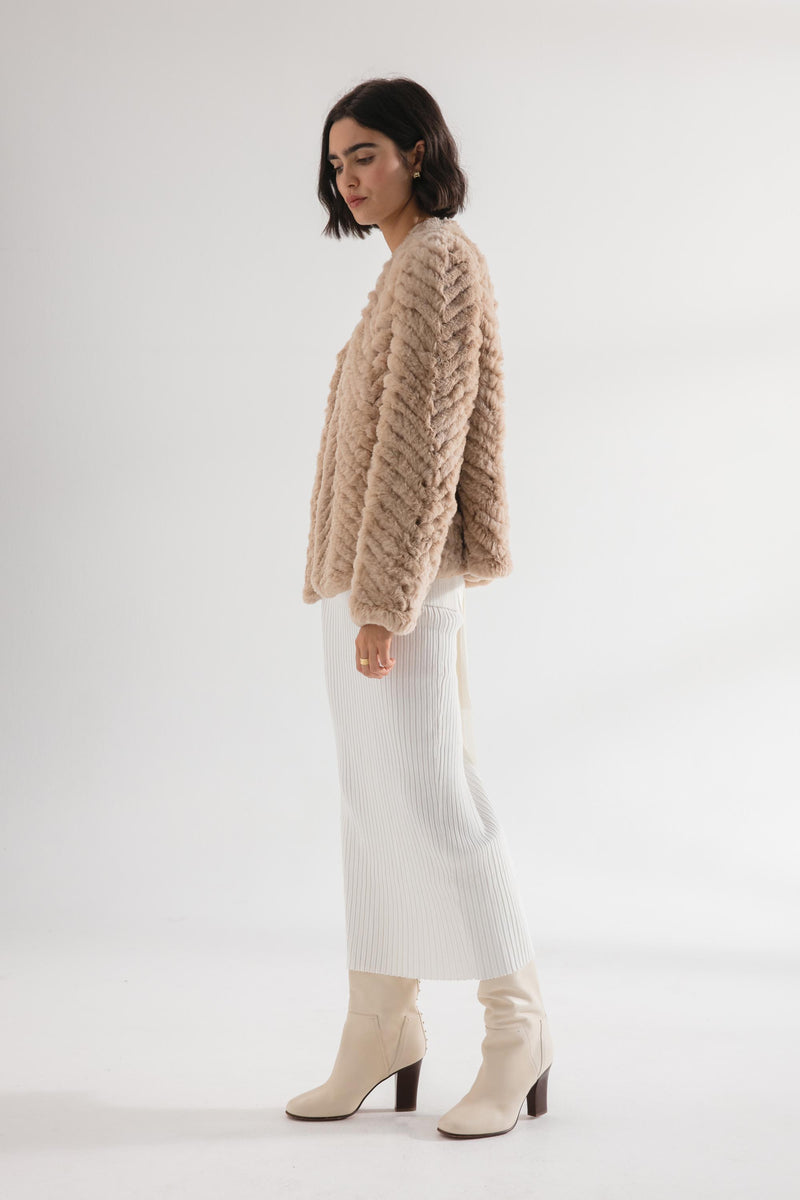 The Zigzag Frank Jacket - Hazelnut