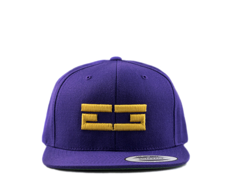 PURPLE / GOLD EG SNAPBACK, Hat - Educ8d + Gifted