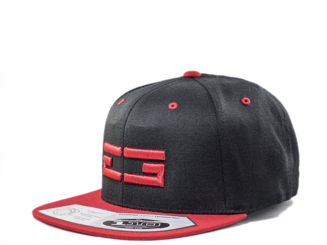 BLACK / RED EG SNAPBACK, Hat - Educ8d + Gifted