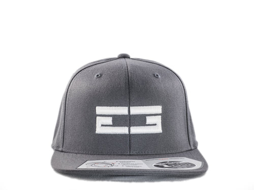 GREY / WHITE EG SNAPBACK, Hat - Educ8d + Gifted