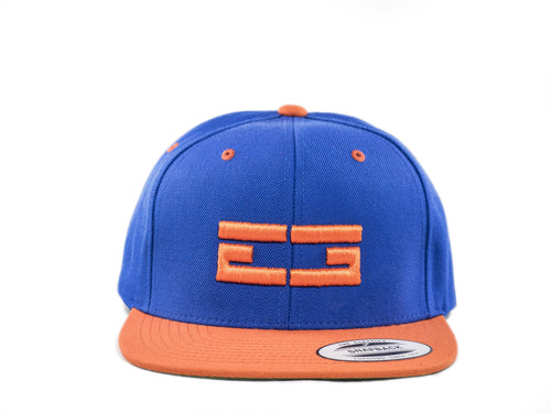 BLUE / ORANGE EG SNAPBACK, Hat - Educ8d + Gifted