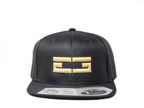 BLACK / GOLD EG SNAPBACK, Hat - Educ8d + Gifted