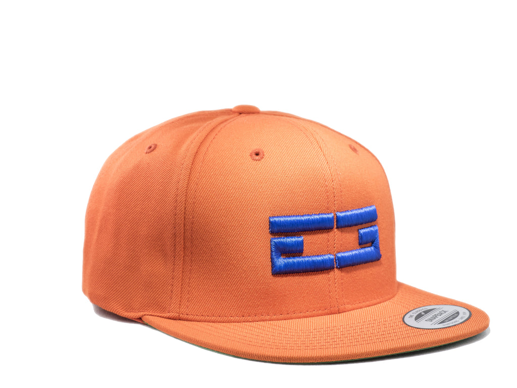 ORANGE & BLUE EG SNAPBACK, Hat - Educ8d + Gifted