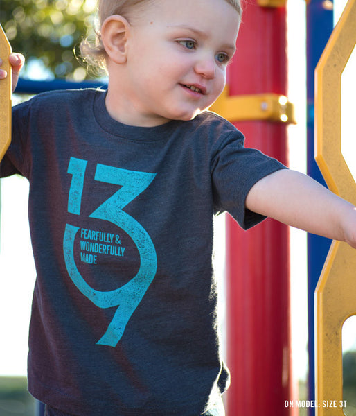 Kids Psalm 139 Tee – Blue