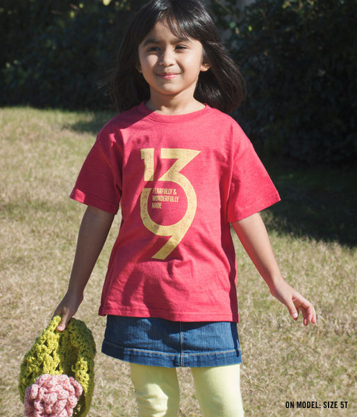 Kids Psalm 139 Tee – Red