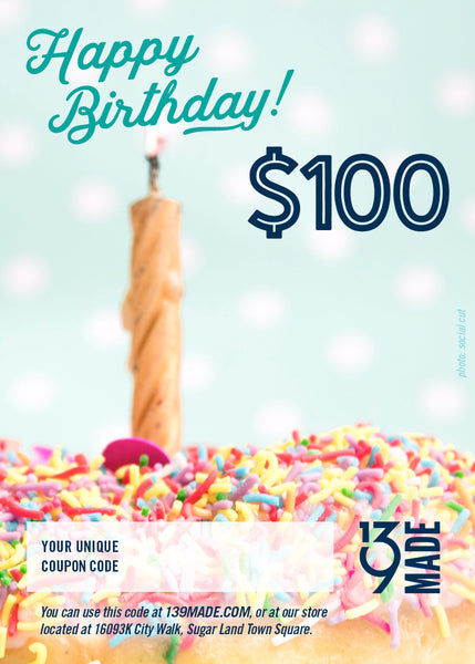 GIFT CERTIFICATE - $100