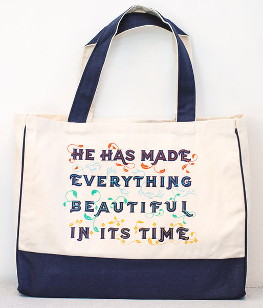 Beautiful In Its Time – Sturdy Canvas Tote