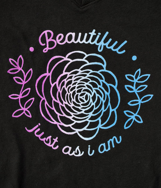Beautiful Just As I am Girls Tee – Black