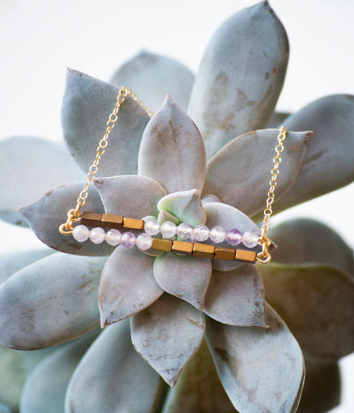 Ruth Necklace – Lavender