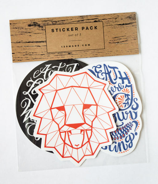3-Stickers Custom Pack