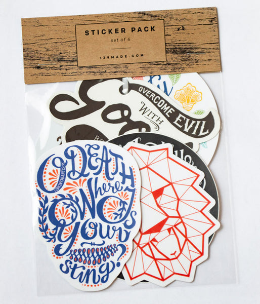6-Stickers Pack