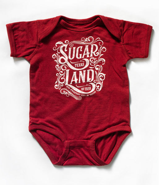 Western Sugar Land Infant Bodysuit - Garnet