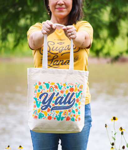 Sugar Land Y'all Canvas Tote