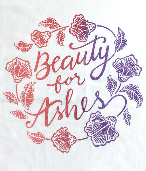 Beauty for Ashes Keyhole-Sleeves Tee