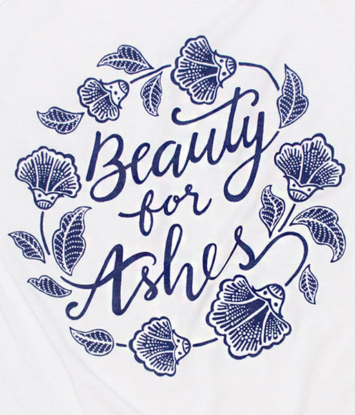 Beauty For Ashes Tank – White