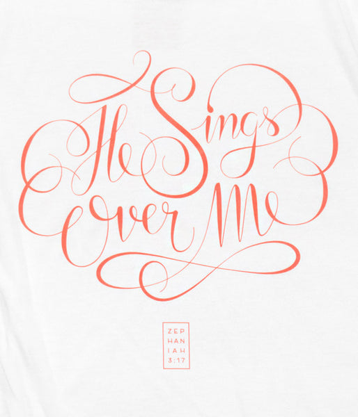 He Sings Over Me – White