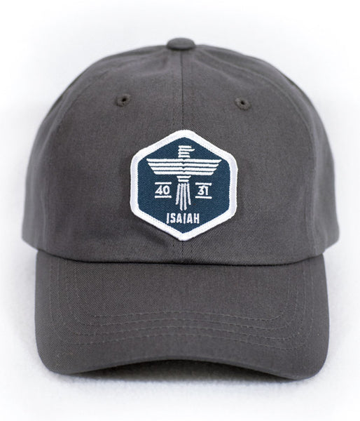 Isaiah Eagle Gray Dad Hat