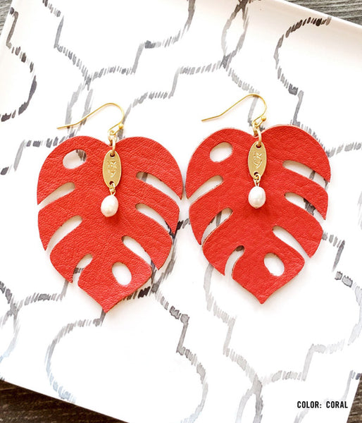 Joy Leather Earrings