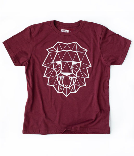Lion & Lamb Youth Tee – Maroon