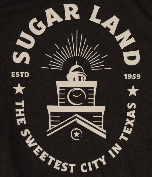 Sugar Land Badge Tee - Heather Black