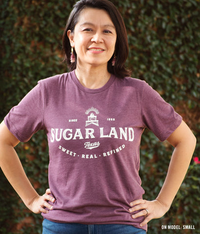 Legacy Sugar Land Tee - Heather Maroon