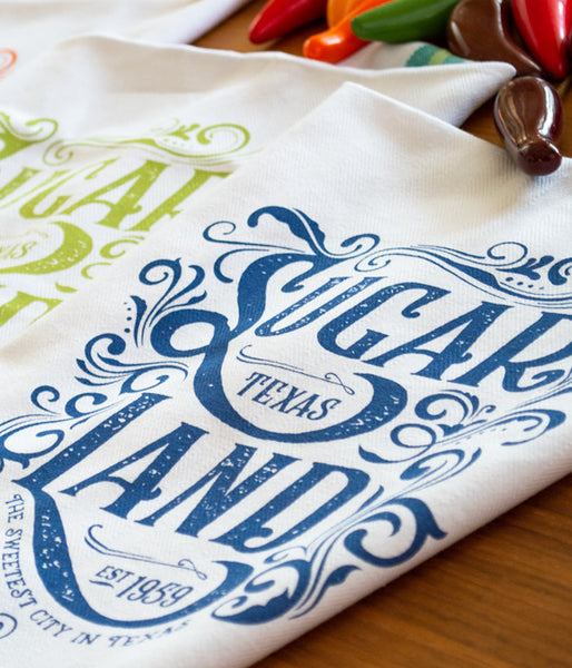 Sugar Land Tea Towels Set