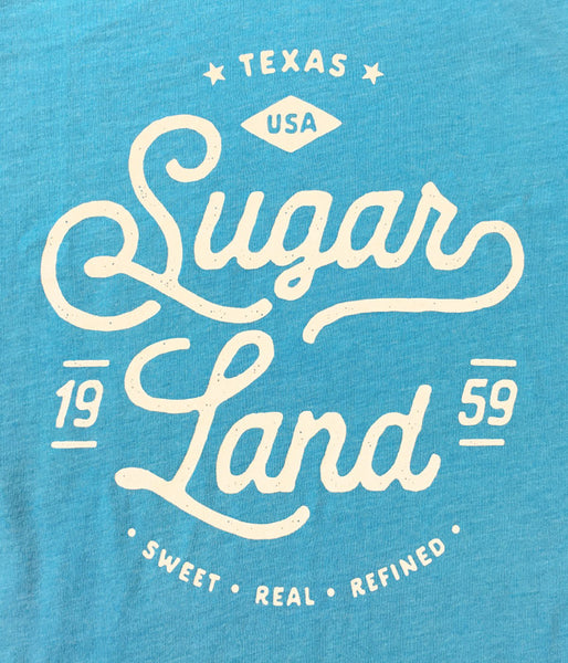 Vintage Sugar Land Tee - Heather Aqua