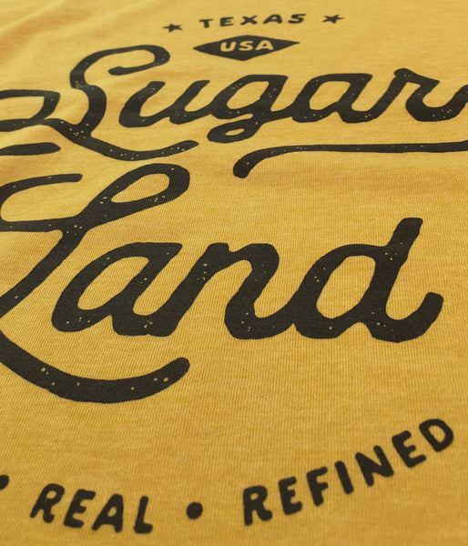 Vintage Sugar Land Tee - Heather Mustard